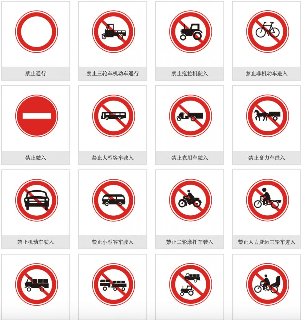 禁令标志_禁令标志图片大全_禁令标志图解-交通安全标志插图